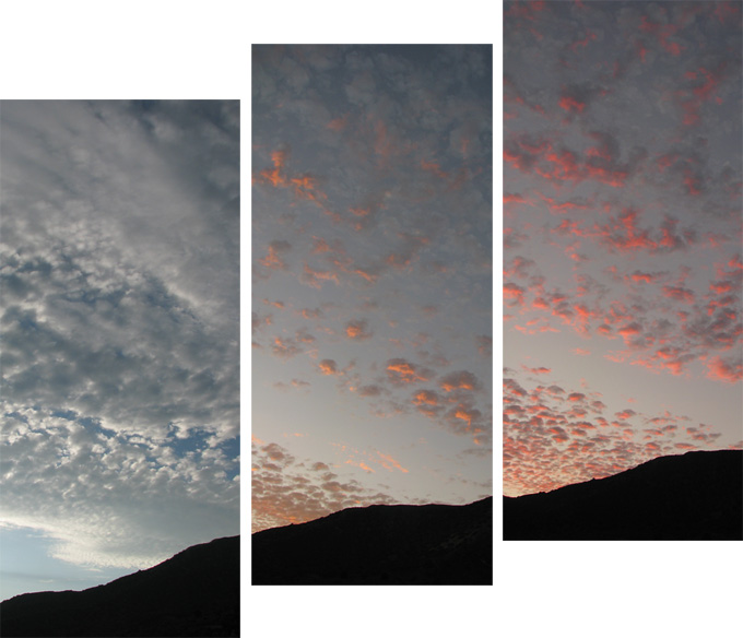 August sunset triptych II