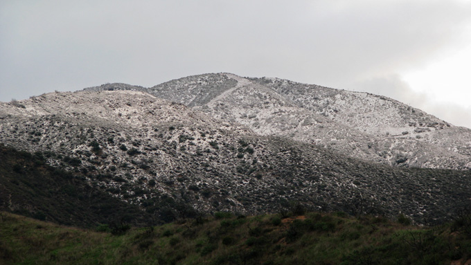 snow on the foothills